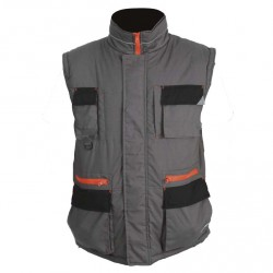 Gilet GANG Gris/noir/orange