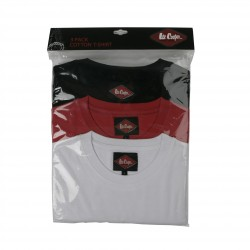 Lot de 3 tee-shirts Noir/rouge/blanc