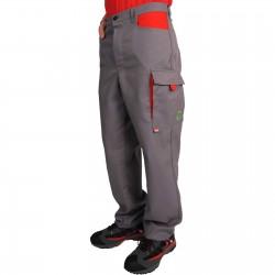 Pantalon PERSAN gris/rouge
